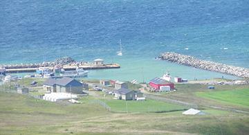 Le port de l'île d'Entrée